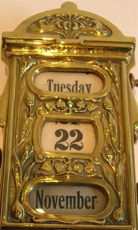 antique perpetual desk calendar antique brass perpetual desk calendar