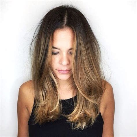 best 25 one length hair ideas on pinterest shoulder photos medium length omber hair black hairstle picture