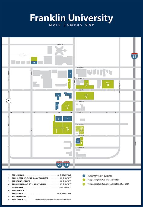 Franklin Mba Application Columbus Ohio by Student Parking Policy Franklin