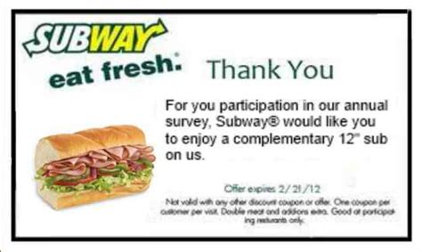 subway restaurant coupons printable subway rest coupons online subway coupons