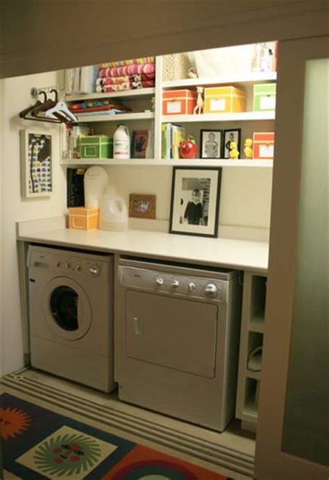 Small Laundry Closet by Remodelaholic 25 Ideas For Small Laundry Spaces