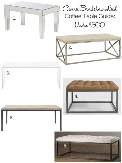 carrie bradshaw coffee table coffee table guide