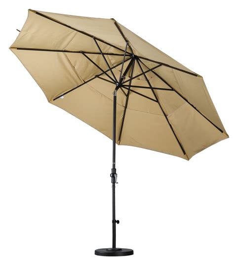 Patio Umbrellas B Q California Umbrella 9 Sunbrella Fabric Fiberglass Rib Crank Lift Collar Tilt