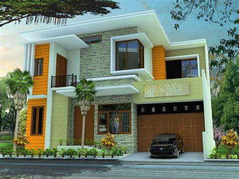 pilihan contoh warna cat rumah bagian depan renovasi rumahnet