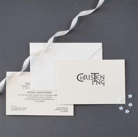 Invitation Letter Sle For Christening Luxury Personalised Christening Invitations The Letter Press