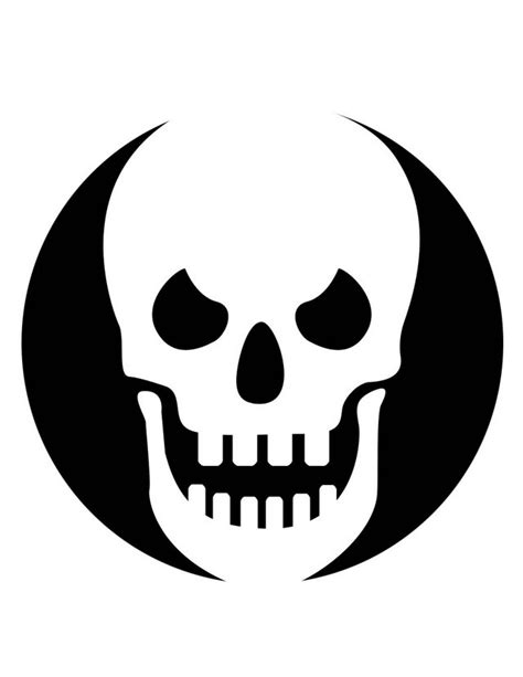 printable skull stencils free skull and crossbones images free cliparts co