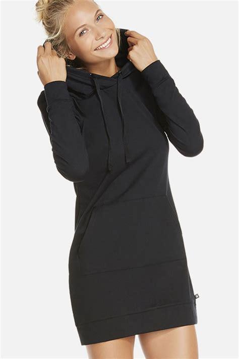 Dress Hoddy black hoodie dress oasis fashion