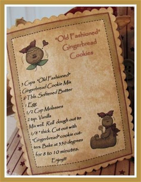 gingerbread recipe card template 78 images about gingerbread recipe cards on