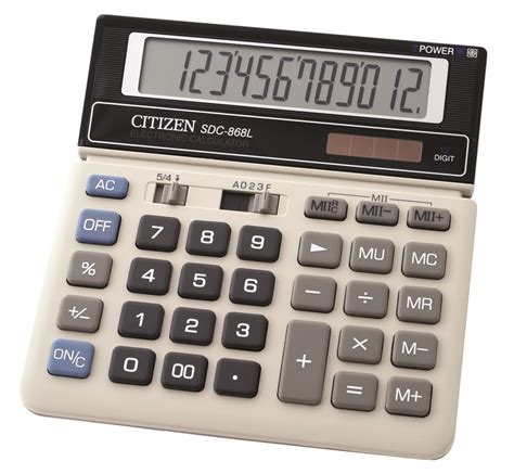Kalkulator Citizen Sdc 868 L Up Calculation office calculator citizen sdc 868l 12 digit 154x152mm