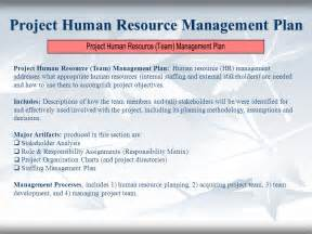 human resource plan template for project managers the project plan plan your work then work your plan ppt