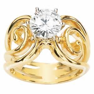 Black Moissanite 1 5 Ct 1 5 ct moissanite portico ring 14kt yellow gold jj63212