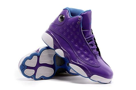 purple jordans shoes 2016 air 13 hornets purple blue for