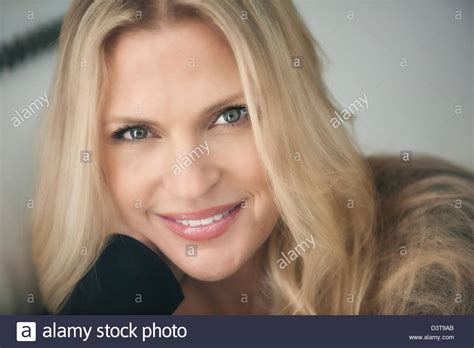this pretty blond haired middle aged stock photo 86043952 headshot beautiful blond blue eyed woman middle aged looks
