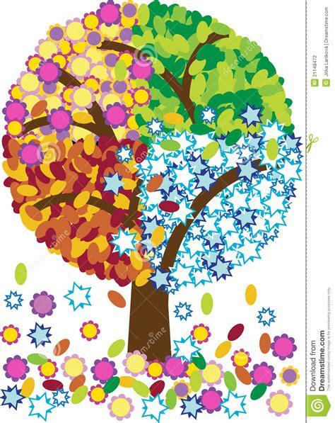 illustration of season trees illustration of four seasons tree stock illustration illustration of autumn 21148472