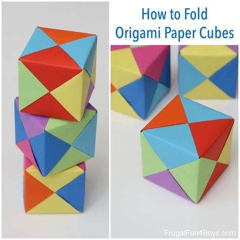 How To Make A Cube On Paper - how to fold origami paper cubes frugal for boys and