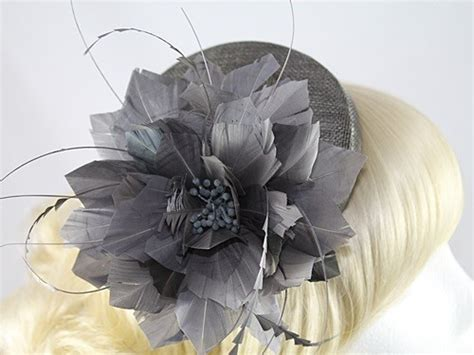 wedding hats 4u j bees millinery flower pillbox in grey