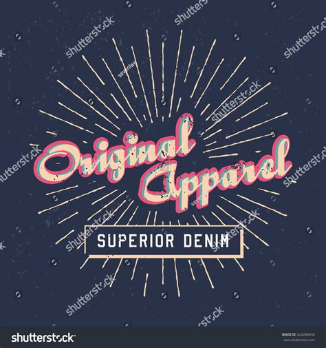 Tshirt Original Apparel concept design tshirt print original apparel stock vector