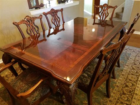 mahogany dining room set letgo thomasville mahogany chippendal in sisterdale tx