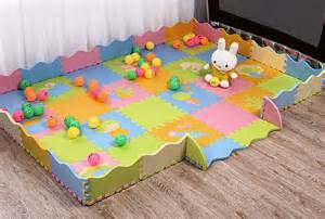 48pc foam baby play mat with assembled fence
