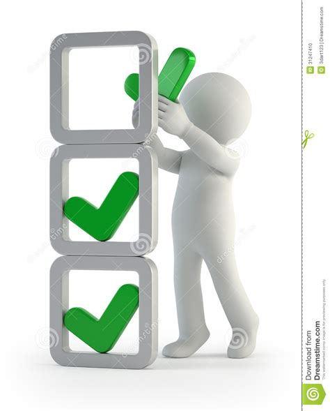 tischgröße 6 personen 3d小人民 校验标志的设施 库存例证 插画 包括有 人员 执行 非常好 符号 回报 确认 辅助