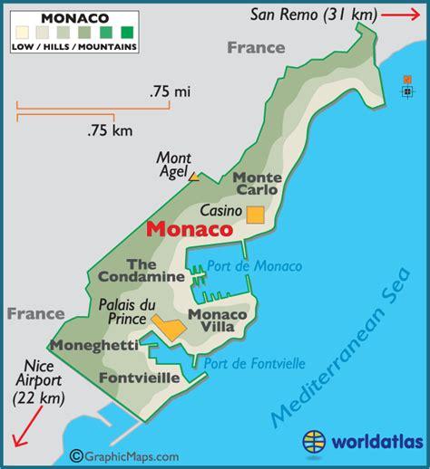 monaco europe map monaco map world map europe monaco maps large color map