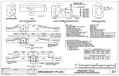 drainage section drawing drainage details drawings