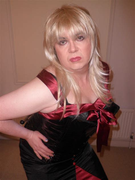 crossdresser makeovers dallas tx red lipstick crossdressers black and red dress corset