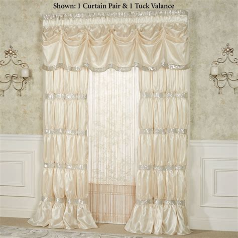 Silk Window Treatments Radiance Faux Silk Tuck Valance Window Treatment