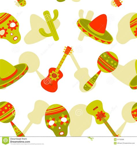 pattern mexican vector mexican seamless pattern stock vector image of carnival