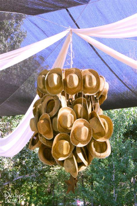 Cowboy Chandelier How To Make A Cowboy Hat Chandelier Design Dazzle