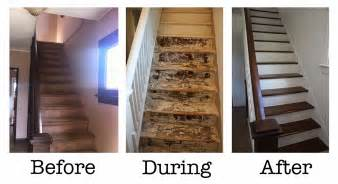 If you missed my earlier post on how to strip and sand wood stairs
