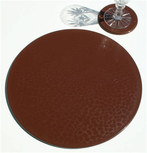 Chocolate Coaster It Or It by Chocolate Set Of 1 Placemat 1 Coaster