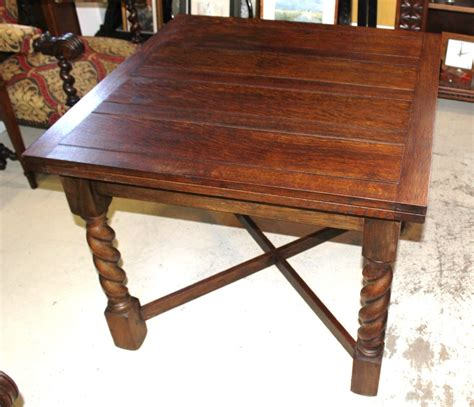 Antique Oak Dining Table Antique Oak Draw Drop Leaf Dining Table With Barley Twist Legs 1900 1950