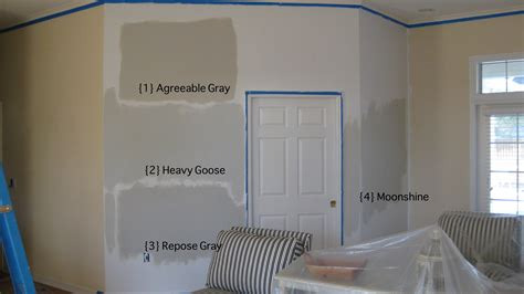 sherwin williams agreeable gray and moonshine by bm cb agreeable gray gray and
