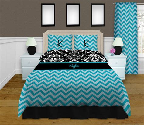 blue chevron bedding blue chevron bedding damask bedding personalized duvet
