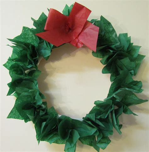 Paper Wreath Craft - learn to grow diy paper plate tissue paper wreath