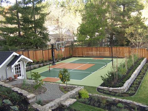 Backyard Basketball Court Ideas 17 Best Ideas About Backyard Basketball Court On Pinterest Basketball Court Outdoor