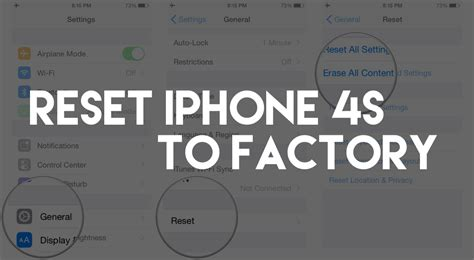 factory reset the iphone 4s how to reset your iphone 4s back to factory settings