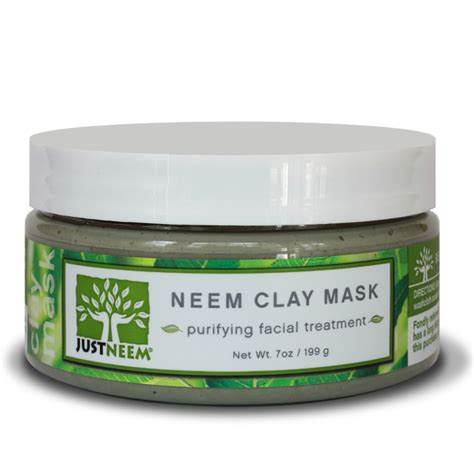 Neem Mask For Detox Acne by Clay Mask Soothing Purifying Hydrating Justneem