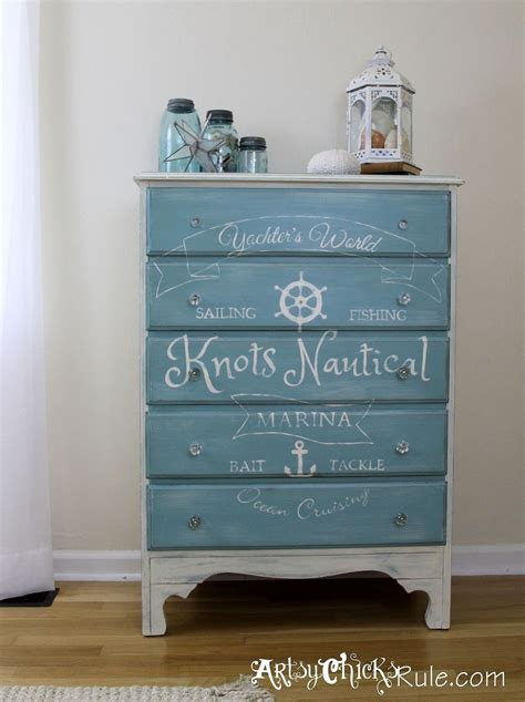 Small Chest Of Drawers For Bathroom - hometalk coastal themed thrift store dresser graphics annie sloan chalk paint