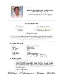 Curriculum Vitae For Nurses by Curriculum Vitae Curriculum Vitae Sample Nurses Philippines