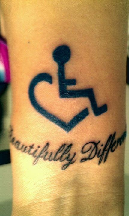 wheelchair tattoo designs wheelchair with text quot beautifully different