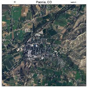 aerial photography map of paonia co colorado