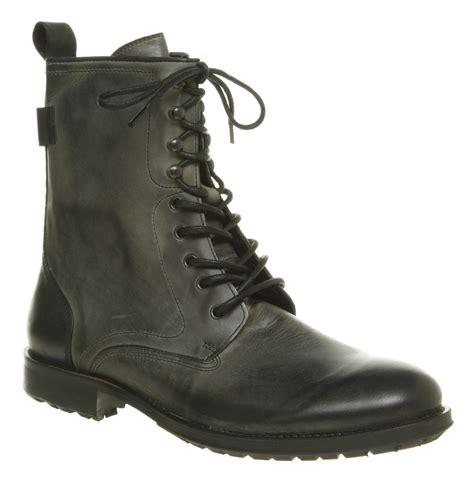 mens hudson westland lace up washed black leather high