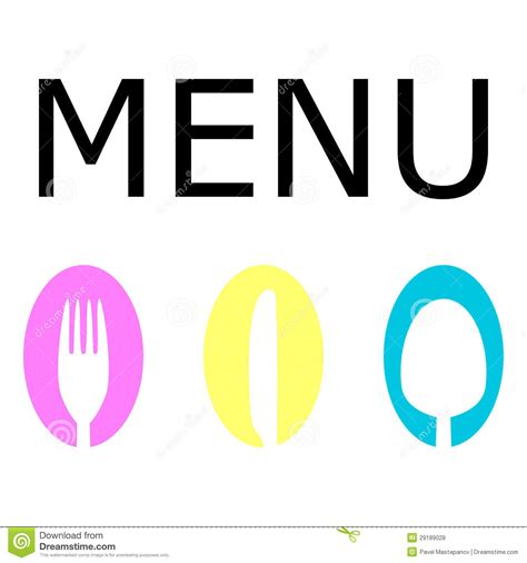 Dining Room Table Seats 8 by Logo For The Restaurant Menu Royalty Free Stock Photos