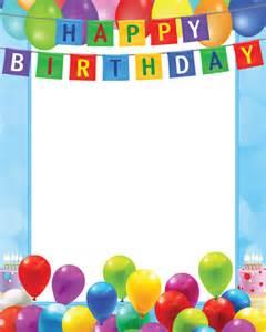 happy birthday transparent png blue frame happy birthday