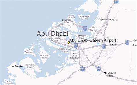 abu dhabi on map abu dhabi bateen airport weather station record