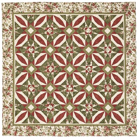 American Patchwork Quilting Patterns - poinsettia s quilting pattern from the editors of