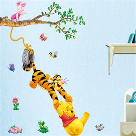 winnie pooh wall stickers winnie the pooh decals bedroom baby nursery decor room wall stickers ebay