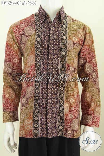 Batik Cap Pekalongan Pria Halus Lengan Panjang baju batik pria lengan panjang istimewa kemeja batik halus berkelas proses cap tulis motif